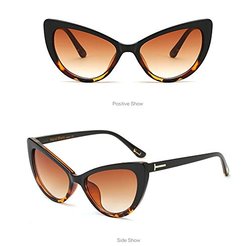 Sol Gafas de Vintage B Diseño de Ojo Gato Hunpta Mujer de para A TEC6q6wx