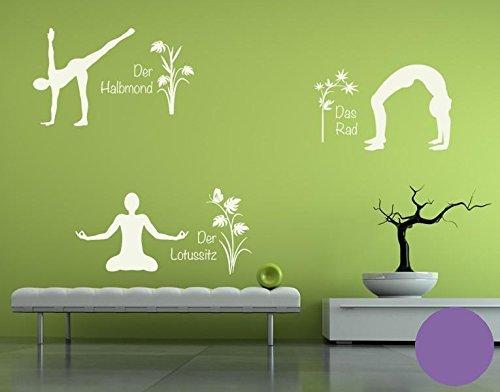Klebefieber Wandtattoo Yoga Figuren Set 4 B x x x H  110cm x 170cm Farbe  Creme B0711D8QS5 Wandtattoos & Wandbilder 69b13d