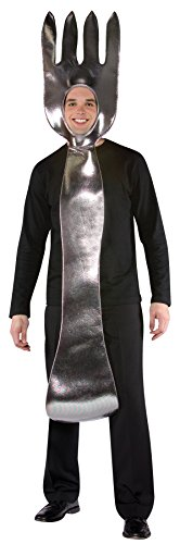 UHC Men's Fork Tunic Funny Theme Party Outfit Halloween Fancy Costume, (Fork Costume)