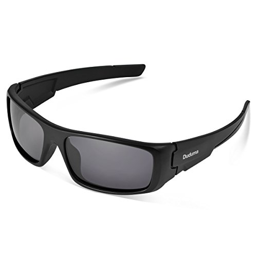 Duduma Tr601 Polarized Sports Sunglasses for Baseball Cycling Fishing Golf Superlight Frame (black frame/black - Best Sunglasses Are Which The
