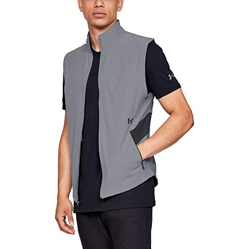 (Under Armour Men's Threadborne Vanish Vest, Steel (035)/Black, X-Large)
