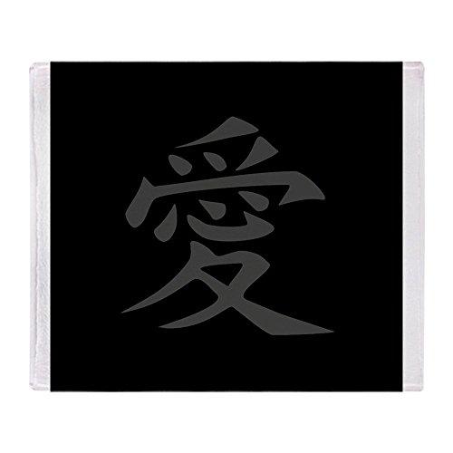 CafePress Love - Japanese Kanji Script Soft Fleece Throw Bla