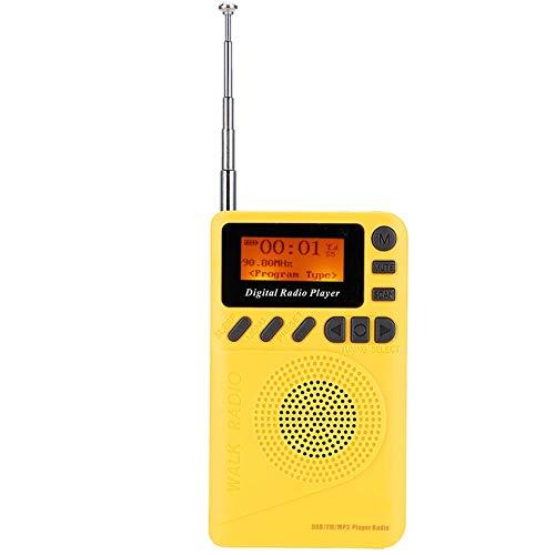 رادیو جیب دیجیتال ، گیرنده استریو رادیویی قابل حمل Mini DAB / DAB با نمایشگر LCD 1.44 اینچ ، آنتن تلسکوپی ، بلندگو ، رادیو FM با عملکرد MP3 برای پیاده روی ، پیاده روی ، آهسته دویدن