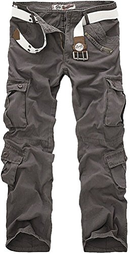 Leward Men's Casual Active Military Cargo Camouflage Combat Pants Trousers with 8 Pocket