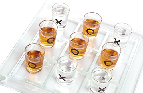 Palais Glassware Salle d'amusement - Room of Fun Shot Glass Collection (Tic Tac Toe Game With 9 - 1/2 Oz Shot Glasses) (Collection Tic Tac Toe)