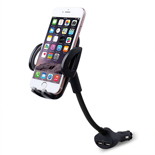 09f5be16797 Te-Rich 2-in-1 Universal Car Cigarette Lighter Cell Phone Holder Charger