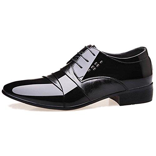 Scarpe Da Uomo In Pelle Da Uomo Derby Formal Business Scarpe Da Lavoro Antisdrucciolevoli Scarpe Da Sposa Oxford Con Punta Di Pizzo Black