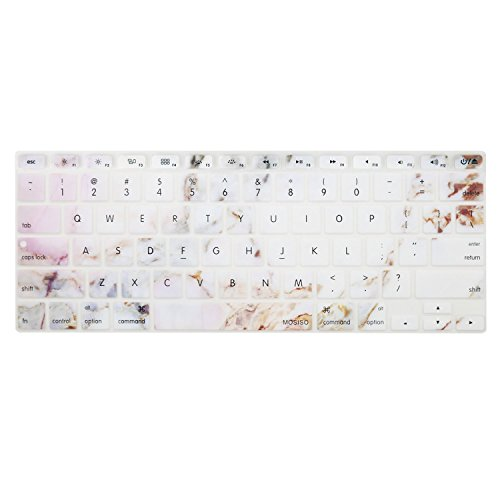 MOSISO Keyboard Cover with Pattern Compatible MacBook Pro 13 Inch, 15 Inch (with or Without Retina Display, 2015 or Older Version) MacBook Air 13 Inch, Colorful Marble
