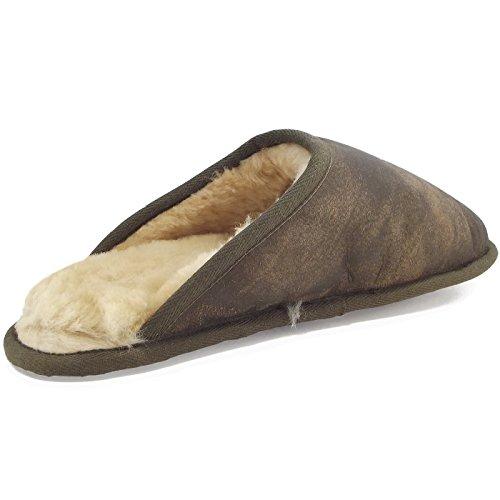 Fellhof - Zapatillas de estar por casa para mujer marrón