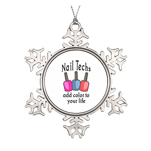 Personalised Ceramic - NAIL TECHS ADD COLOR CERAMIC ROUND CHRISTMAS ORNAMENT