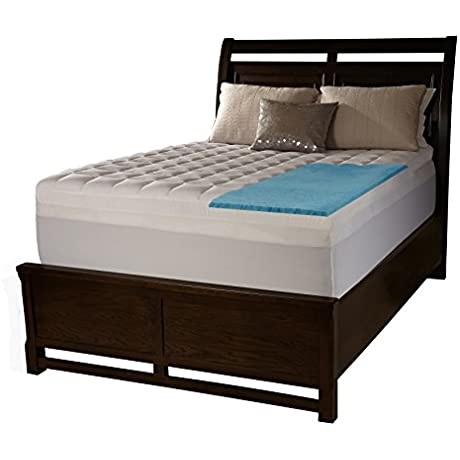 Simmons Beautyrest ComforPedic Loft From Beautyrest 3 Inch Supreme Gel Memory Foam And 1 5 Inch Fiber Mattress Topper With Cover White Full