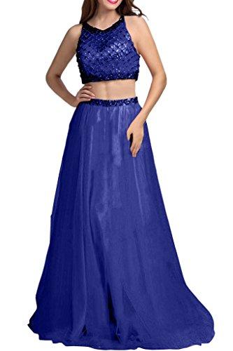 Blau teilig Linie Prinzess Rock Lang Abschlussballkleider Ballkleider Zwei Steine A mia Abiballkleider Tuell Royal Braut Orange Abendkleider La I6OfFwTqxW