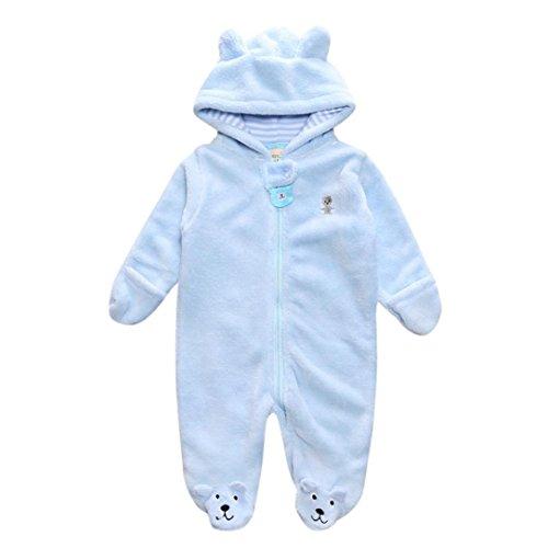 Sharemen Baby Infant Boy Girl Outfit Romper Baby Hoodie Jumpsuit (6-9 Months, Light (Light Blue Infant Sweatshirt)