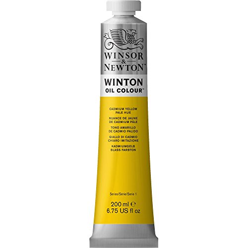 Winsor & Newton Winton Oil Paint Tube, 200ml, Cadmium Yellow Pale Hue (Oil Colors Cadmium Yellow Pale)