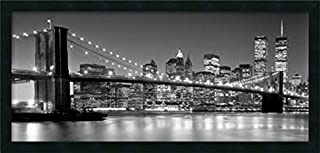 Framed Wall Art Print Brooklyn Bridge by Henri Silberman 38.25 x 18.25 (B00PXRVLXA) | Amazon price tracker / tracking, Amazon price history charts, Amazon price watches, Amazon price drop alerts