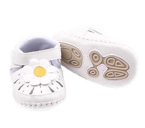 Happy Cherry Zapatos de Primeros Pasos para Bebé Niña con Suela Antideslizante con Huecos Patrón de Flor