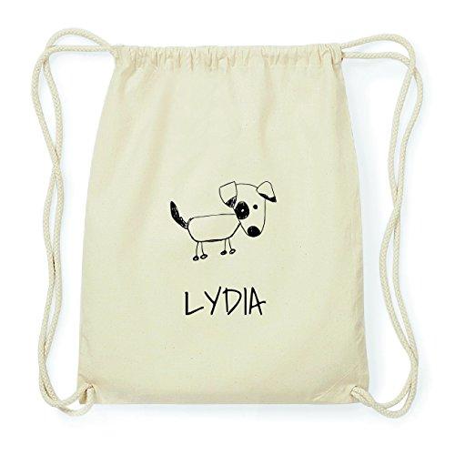 JOllipets LYDIA Hipster Turnbeutel Tasche Rucksack aus Baumwolle Design: Hund ffmm6