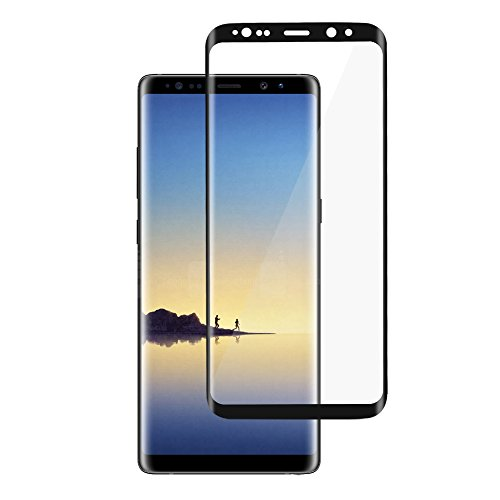 BONUM Galaxy Note 8 Screen Protector,Full Coverage Anti-Scratch, Anti-Fingerprint, Easy to Install Curved Tempered Glass Screen Protector (Black)