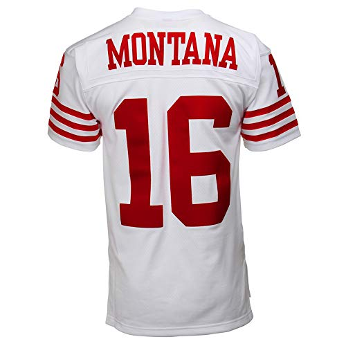 Football_Jersey_Joe_Montana_#16_White_for_Men's/Women's/Youth