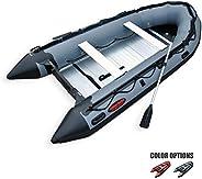 Seamax Ocean380 12.5 Feet Heavy Duty Inflatable Boat, Hot Welded Chamber Seam, Aluminum Floor, 5+1 Chambers, V
