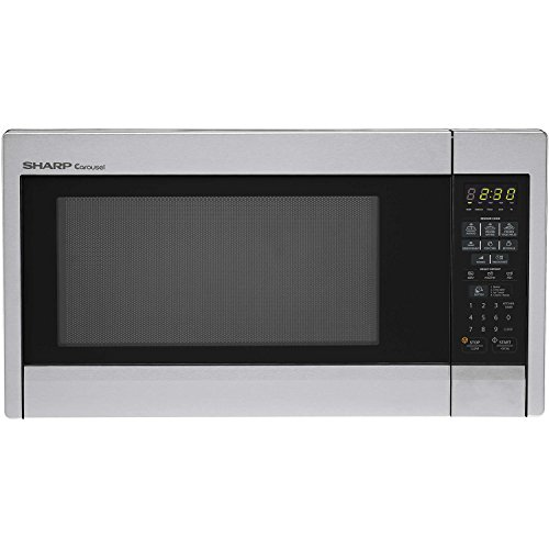 Sharp R451ZS Sensor Microwave (1.3 cu.ft.), Stainless Steel, Standard