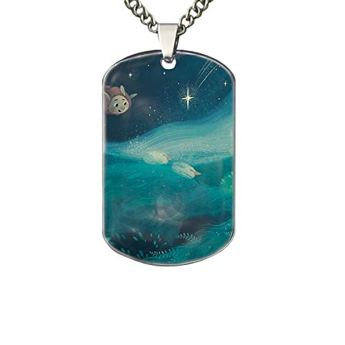 PANQJN Cute Flight Lamb Dog Tag Necklaces,Personalized Dog Tags ()