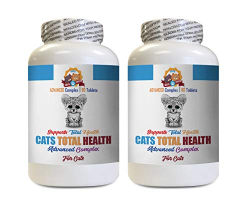 Old cat Vitamins - Cats Total Health Complex - Immune Support - Hair Coat Oral Eye Urinary Care - cat Urinary Tract Care - 2 Bottles (120 Tablets)