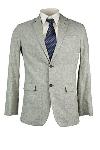- Banana Republic Men's Tailored Slim-Fit Linen Blend Blazer Chambray Green 44R Regular