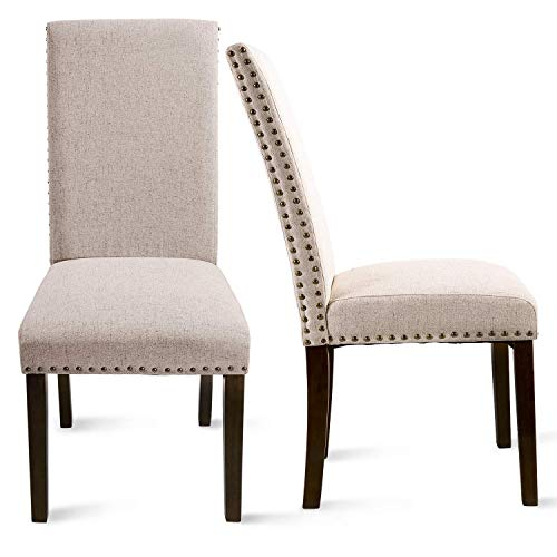 Upholstered Dining Chairs – Dining Chairs Set of 2,Accent Chair Walnut,Metal Dining Chairs