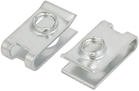 Fit M6 65Mn Screw U Steel nut Silver nut 20 mm x 11 mm 20 Pieces
