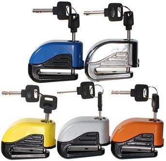 MITUHAKI 6mm Motorcycle Motor Bike Disc Electron Security Lock Alarm Motorcycle Motorcycle Alarm /& Security Blue