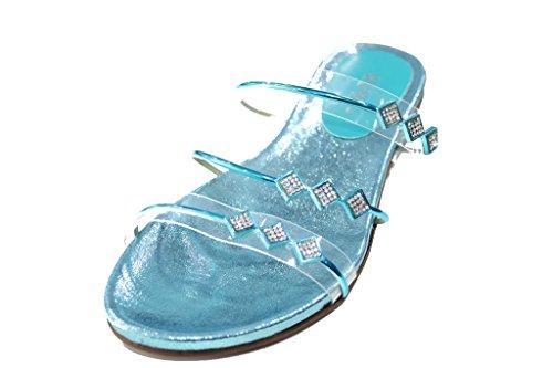 Wear & Walk UK - Sandalias de vestir de Material Sintético para mujer 42 turquesa