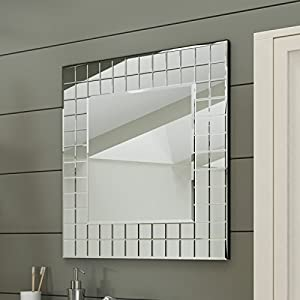 600 X Mm Modern Bathroom Mosaic Square Designer Wall Mirror MC152