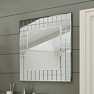 600 X Mm Modern Bathroom Mosaic Square Designer Wall Mirror MC152