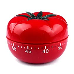 KIMICARE Novelty Loud 60 Minutes Kitchen Timer, Professional Chef Mechanical Tomato Timer Countdown for Cooking Baking Gifts Manual With Alarm Clock For Home Cooking Bbq Outdoor Mechanical Timers, Red