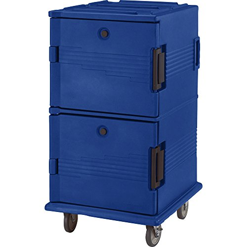 Cambro UPC1600186 Navy Blue Camcart Ultra Pan Carrier - Front - Blue Camcart