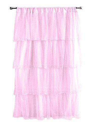 (Tadpoles Tulle Curtain Panel, Pink/Purple, 84