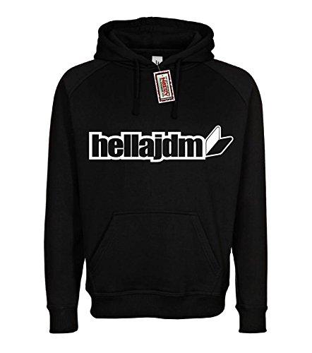 (JDM #18 Badge Import Hoodie Black XL Sweatshirt Street Racing Gear)