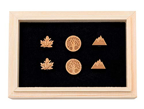 Miss Grandeur GREAT OUTDOORS WOODEN STUD EARRING SET: 3 Unique Designs with a Beautiful Wood Box