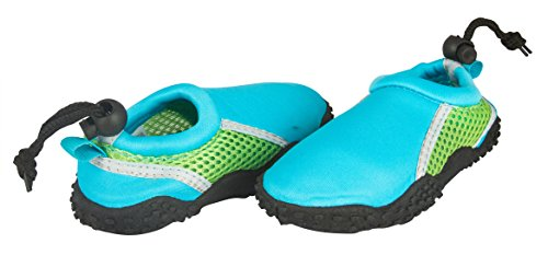 Shocked Toddler Neoprene and Mesh Water Beach Shoe Size 11-12 Turquoise/Green/Gray by Shocked (Image #1)