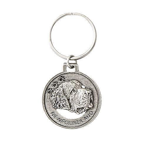 Newfoundland Dog Pewter Key Chain, Key Fob, Key Ring, Gift, D126KC