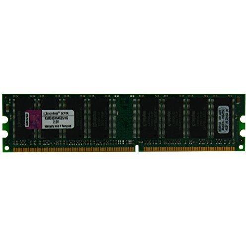 Kingston DDR1 SDRAM 1 GB KVR333X64C25/1G 128M x 64-Bit DDR333 CL2.5 184-Pin 333MHz DIMM 2.5V Desktop Memory