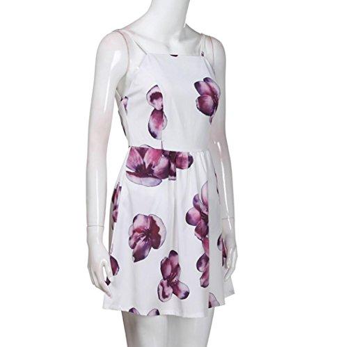 Senza Triangolo SANFASHION Lila Donna Bekleidung Vestito maniche q6pRtp