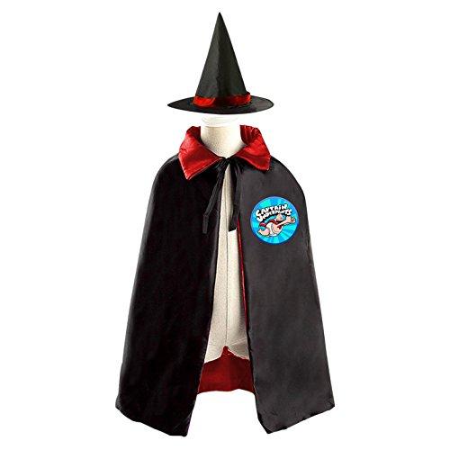 Captain Underpants Costumes Ideas (Captain Underpants Children Kids Halloween Cape Cosplay Party Costume Cloak Cape Witch Hat)