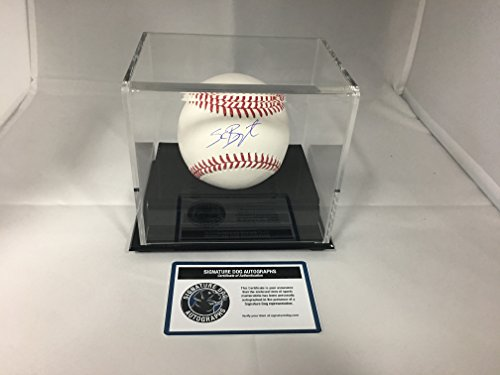 Kris Bryant Autographed Signed Chicago Cubs MLB Baseball With Display Case Included (Autographed Cubs Mlb Baseball)