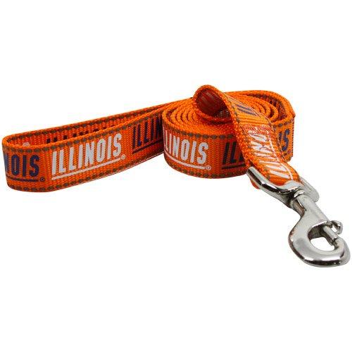 Pet Goods Manufacturing NCAA Illinois Illini Dog Lead, Medium