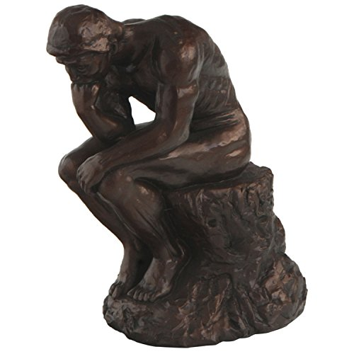 - The Thinker by Rodin Reproduction Statue, 7 Inches