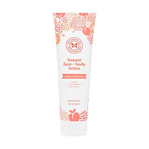 Honest Deeply Nourishing Hypoallergenic Face And Body Lotion With Naturally Derived Botanicals, Apricot Kiss, 8.5...