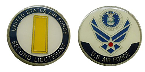 "Air Force Officer Ranks - 2nd Lieutenant ""O -1"" Collectible Challenge Coin /Logo Poker / Lucky Chip/ Gift"