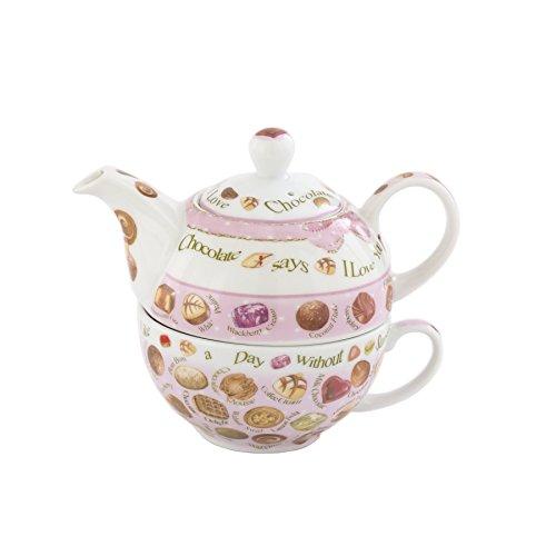 Cardew Design Chocolates Tea Set for One with 16-Ounce Pot a